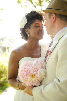 CurlsUnderstood.com: Natural Hair Brides. MELANIE + DAVID