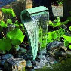 thoughtful ...  Garden Water Feature Water Fountain - Designer water features for a landscaped or wild garden. Essential garden décor product. Available to buy from Total Warehouse - http://www.totalwarehouse.co.uk/categories/Garden/Water-Features-%26-Bird-Baths/