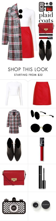 """Plaid Coats!"" by blueberrylexie ❤ liked on Polyvore featuring Proenza Schouler, Topshop, Carven, Miu Miu, Alexander Wang, Lodis, Chanel, Smashbox and NARS Cosmetics"