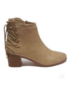 Another great find on #zulily! Nude Lavin Lace-Up Bootie #zulilyfinds