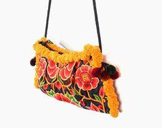 Gorgeous Flower Cross Body Bag #ethniclanna #madeinthailand