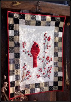 Winter's Song Cardinal Quilt Download Pattern | Cardinals, Songs ... : cardinal quilt - Adamdwight.com