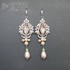 Bridal Chandelier Earrings WEdding Earrings by adriajewelry