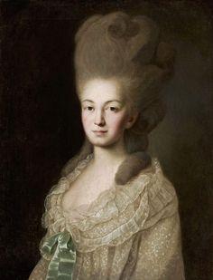 Painter unknown, Portrait of Ludwika Borchowa née Zyberk,1780, MNW
