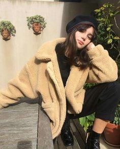 berets and fuzzy coats