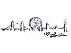 Image result for london skyline tattoo