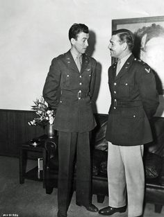 James Stewart and Clark Gable, Captains in the US Army Air Corps.