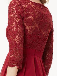 3/4 Sleeve Short Cocktail Dress
