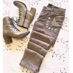 """Corduroy Jessica Simpson """"Forever Skinny"""" Jeans  So cute for the winter! Color is like a purple/gray acid wash and looks perfect with sweaters! Corduroy gives the jeans a cute marbled style! No trades ! Jessica Simpson Jeans Skinny"""