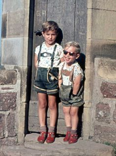 It takes a special type of country to produce men who look good in short leather breeches decorated with embroidery. I bet these kids grew up to be total ballers. Repinned by www.gorara.com