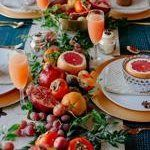 Boho holiday (if you want it to be) tablescape by Justina Blakeney