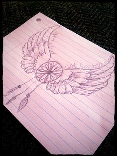 This is a drawing I did, && I really want it for a tattoo in memory of my grandpa <3