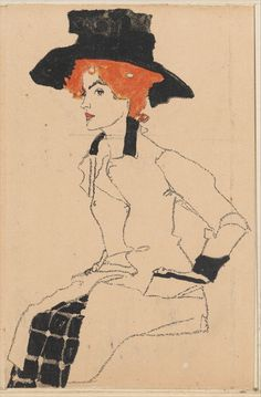 Egon Schiele, Portrait of a Woman, 1907/8-14.