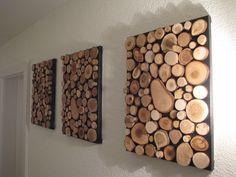 Einzelne Bilder aus Holzscheiben