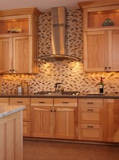 Find This Pin And More On Kitchen Decor Ideas Hickory Cabinets