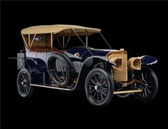 This 1914 Mercedes Open Front Town Car was built in Germany and sold in California. At Scotsdale, it sold for $962,000.
