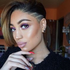 Best Ideas For Short Haircuts : Edgy - community. Shaved Side Hairstyles, Undercut Hairstyles, Braided Hairstyles, Relaxed Hairstyles, Curly Hair Styles, Natural Hair Styles, Sassy Hair, Hair Game, Shaved Hair