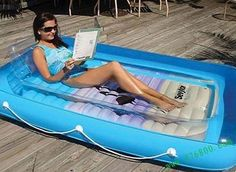 32.) Getting some sun can be hot business, but if you don't have a pool? Buy this adult version of a kiddie pool. It'll keep you cool without costing a ton of money.