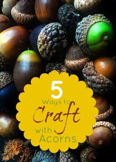 Perfect for fall!  Acorn crafts from around blogland featured at Infarrantly Creative.