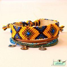 Bohemian hippie gypsy bracelet  multiple by DILETTANTEsoutache, $75.00