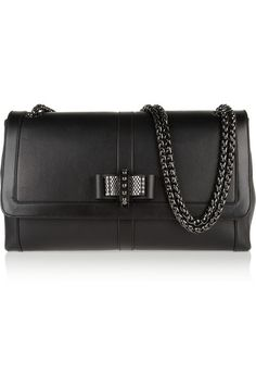 Shop now: Christian Louboutin Sweet Charity Large Bow-embellished Leather Shoulder Bag