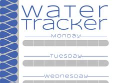 Weekly Water Tracking Chart to help keep track of how much you drink (In The Next 30 Days)