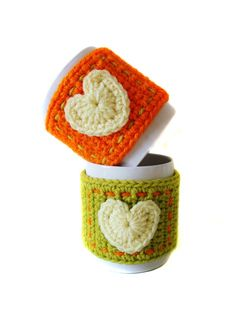 Symbols Crochet PATTERN PDF format Mug Cozy by DaisyEzyCraft