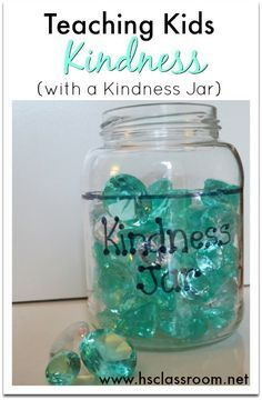 Need an effective teaching tool to encourage and acknowledge kindness in your home or classroom? This kindness jar works to help teach kids about and encourage them to share kindness with others! Teaching Emotions, Teaching Kindness, Kindness Activities, Help Teaching, Teaching Tools, Preschool Activities, Physical Activities, Kindness For Kids, Kindness Projects