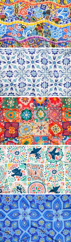Announcing the Spanish Tiles Design Challenge Winners - A tour through the streets of Granada and it's easy to see where the inspiration for this week's Spanish Tiles design challenge came from. Geometric patterns, vibrant colors and intricate mosaicartare all reminiscent of traditional hand-crafted decorative tiles that once adorned Spanish churches and palaces. #design #illustration #designer #tiles #spanishtiles #spain #fabric #surfacedesign #illustrator #designer