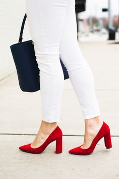 Red Block Heels * Red White and Blue