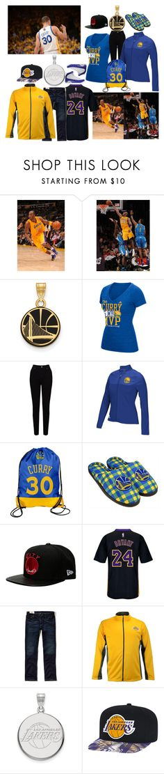 """LAL and GSW Couple outfit (Me and Danny)"" by beethoven-fangirl-127 ❤ liked on Polyvore featuring LogoArt, EAST, adidas, Forever Collectibles, New Era, Hollister Co. and Profile"
