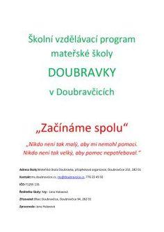 Školní vzdělávací program Doubravka 2015