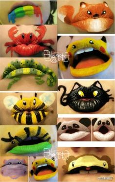 Halloween..lips, we could do this during trunk or treat