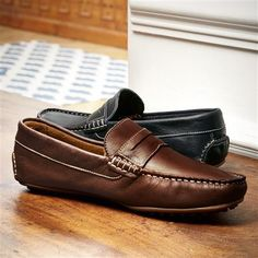 Brown Brompton driving shoes