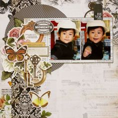 『Treasured moments』by Miyuki Kawakami Scrapbooking Layouts, Scrapbook Pages, Something To Remember, Scrapbooks, Eat Cake, Projects To Try, Paper Crafts, Fancy, In This Moment