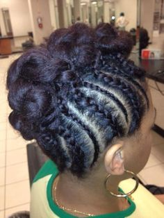 Or this with the hair knoted or whatever it is .all the way back and braids different Natural Hair Journey, Natural Hair Care, Natural Hair Styles, Natural Beauty, Natural Life, Beautiful Braids, Gorgeous Hair, Love Hair, Great Hair