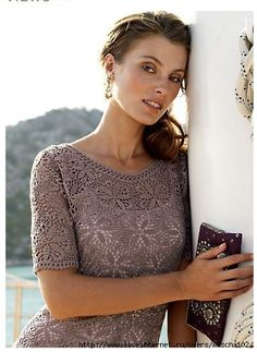 Lovely crochet motif dress