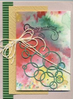 Stamps: Stampology Paper: DCWV Corrogated, DCWV Fiber Natural Paper Size: A2 Ink: Memento Accessories: Memory Box Loopy rings, Memory Box jewels, ? twine DTGD15StamperSandeeB by scootsv - Cards and Paper Crafts at Splitcoaststampers
