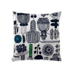 Marimekko Puutarhurin Cushion (3,020 PHP) ❤ liked on Polyvore featuring home, home decor, throw pillows and marimekko