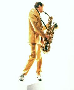 Bowie playing sax