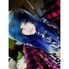 Blue emo scene hair Source by KellyCravesYou Ombre Pastel Hair, Bob Pastel, Grunge Pastel, Hairstyles With Bangs, Girl Hairstyles, Scene Hairstyles, Wedding Hairstyles, Hairstyle Men, Formal Hairstyles