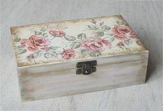 Wooden box. Jewerly box.. Wooden storage. por DecoupageMargaret