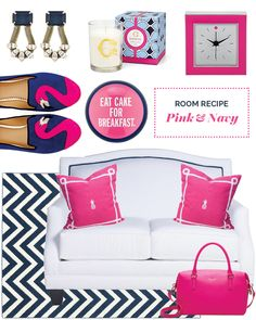 Pink and Navy Room Recipe