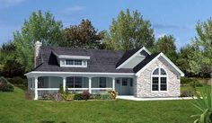 Country Style House Plans - 801 Square Foot Home , 1 Story, 2 Bedroom and 1 Bath, 2 Garage Stalls by Monster House Plans - Plan 77-260