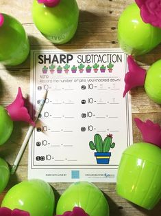 Cactus Lesson Ideas with FREE Printables! Kindergarten Freebies, Teacher Freebies, Kindergarten Centers, Literacy Work Stations, Diy Wedding Projects, Guided Math, Classroom Inspiration, Addition And Subtraction, New Tricks