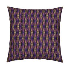 Catalan Throw Pillow featuring KRLGFabricPattern_131E1LARGE by karenspix   Roostery Home Decor