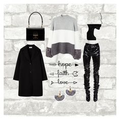 """Gray 👀"" by emana0 on Polyvore featuring Yves Saint Laurent, MANGO, Dolce&Gabbana and NAKAMOL"