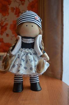 Купить Морячка текстильная куколка - синий, текстильная кукла купить, подарок на любой случай
