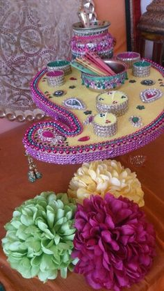 Beautiful mehndi plate