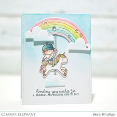 Hello there! It's Vera  here :) Today, I'm sharing my cards featuring the new Unicorns and Rainbows  stamp set along with the Rainbow High ...